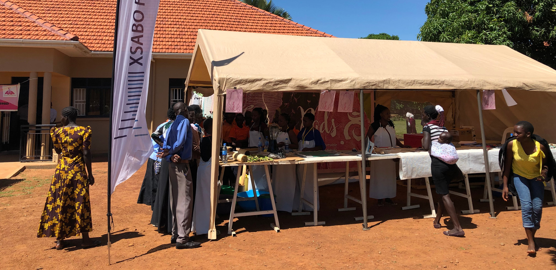 'Fancy Pads' demonstration tent at one of our Mobile Medical Camps.