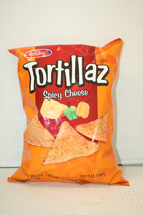 Tortillaz Chips Spicy Cheese 180g