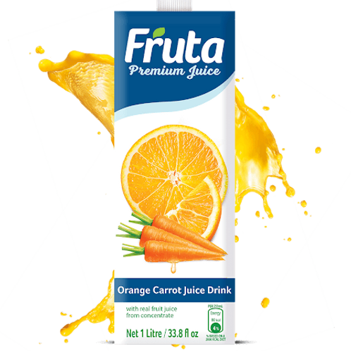 Fruta Premium Juice  Orange Carrot Juice 1lt 33.8lf oz
