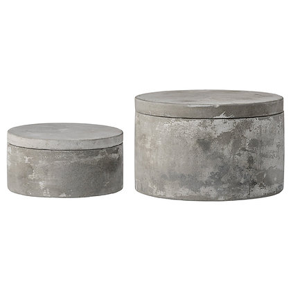 Round Cement Box (set of 2)