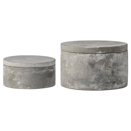 Round Cement Box (set of 2)