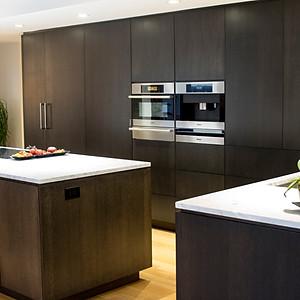 Dark Stain, Whole Kitchen, New Style