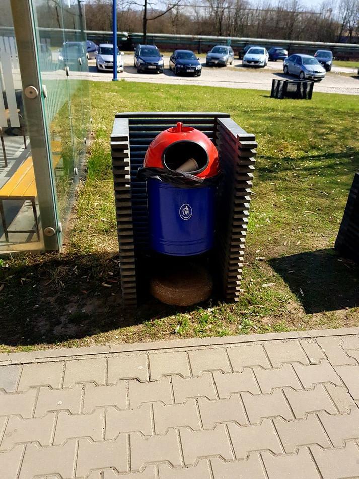 Kryt na odpadkový koš