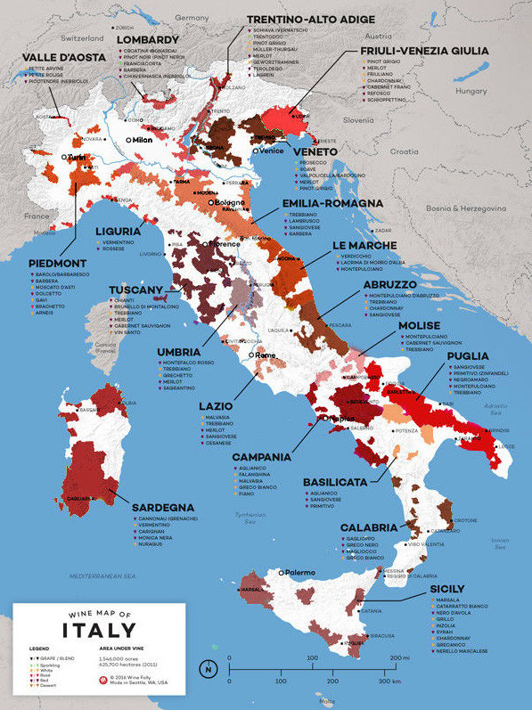RegiõesVinícolas da Italia