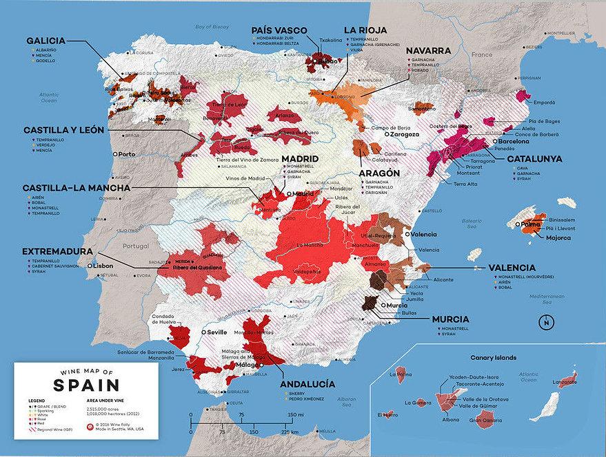 RegiõesVinícolas da Espanha