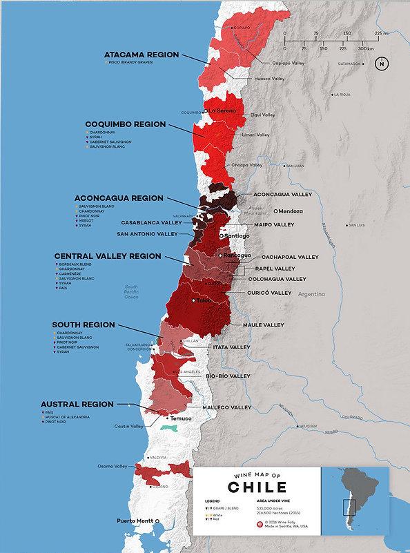 RegiõesVinícolas do Chile