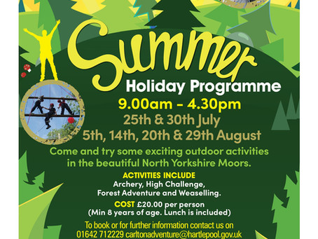 Summer Holiday Sessions!