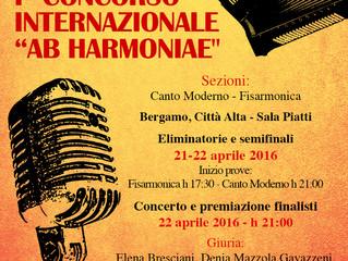 """Concorso di Musica Leggera """"Ab Harmoniae"""""""