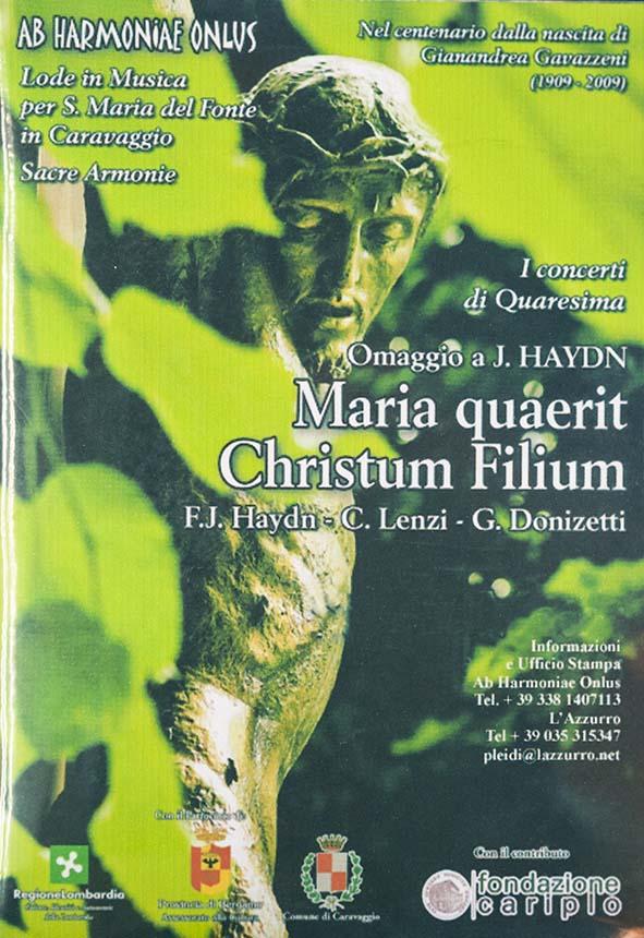Denia Mazzola Gavazzeni Maria quaerit Christum Filium Haydn