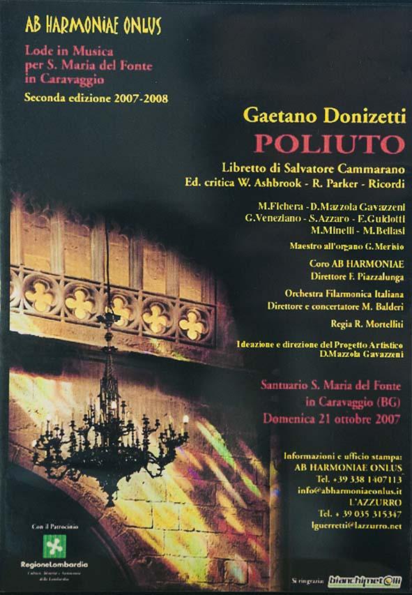 Denia Mazzola Gavazzeni Poliuto Donizetti Ab Harmoniae Onlus