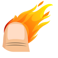 Flame Finger Icon 1 Without Background 2