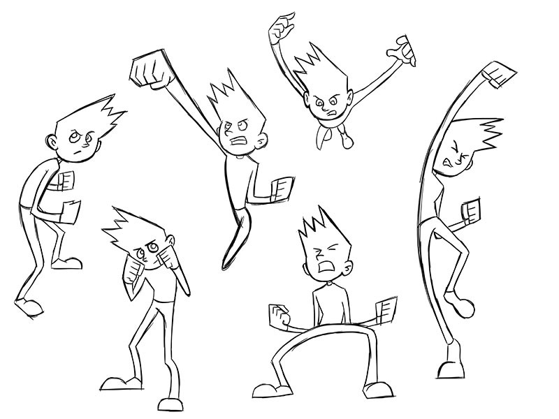 Kid: Action Poses