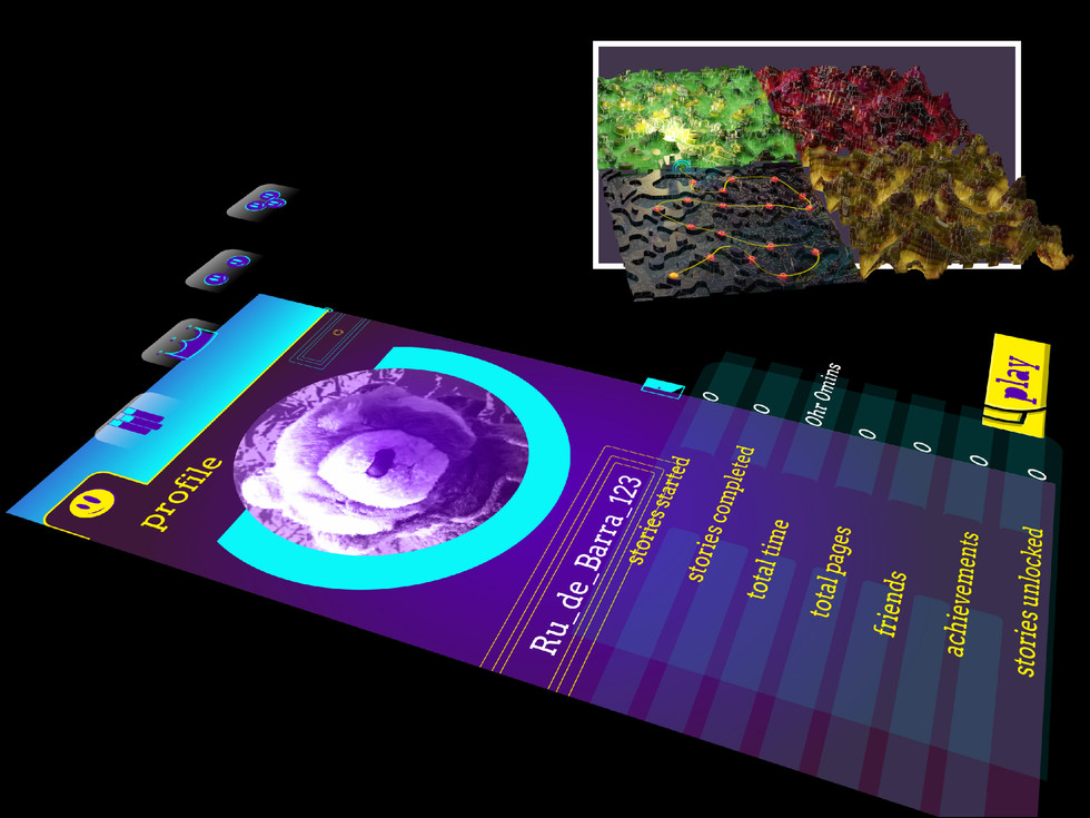 The games map screen was modelled in the 3D software, Blender. There are huge advertising posibilities for this design.