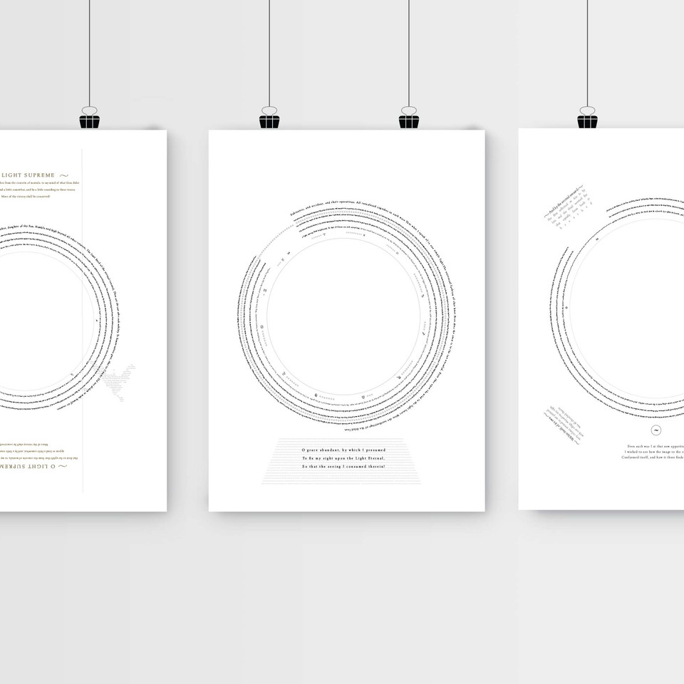 ISTD poster series  ~ Paradiso canto 33~ Dante Alghieri