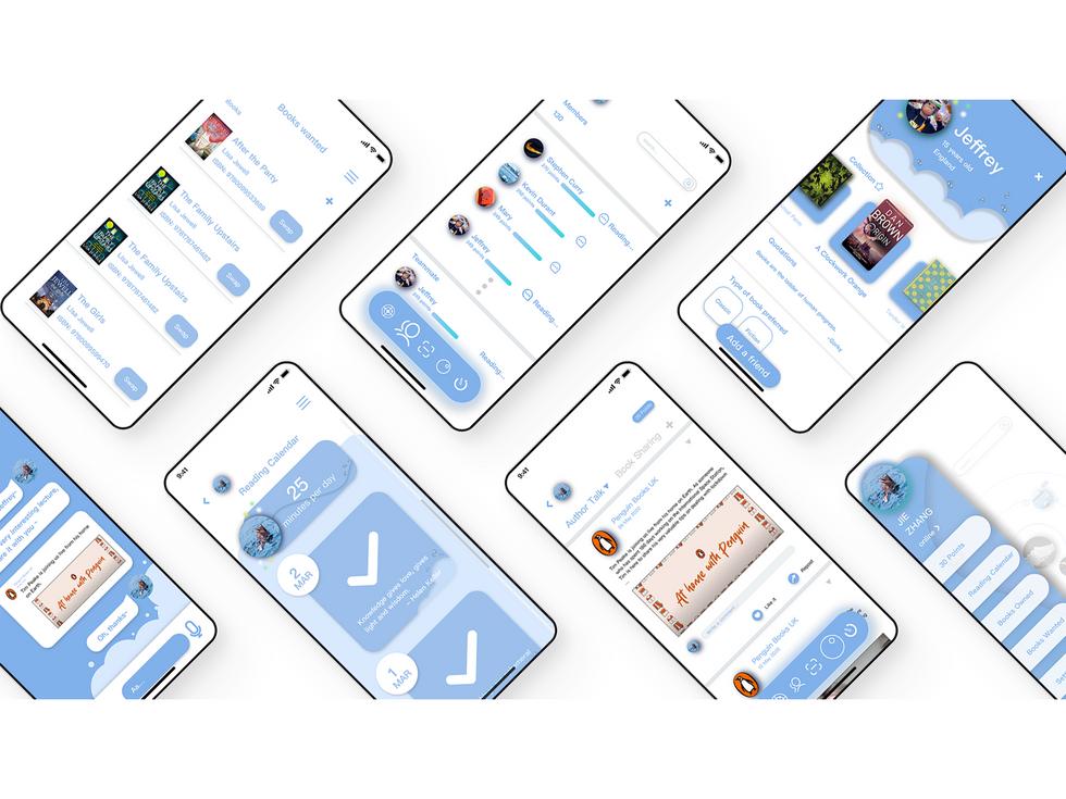 Mockups of the swowp app