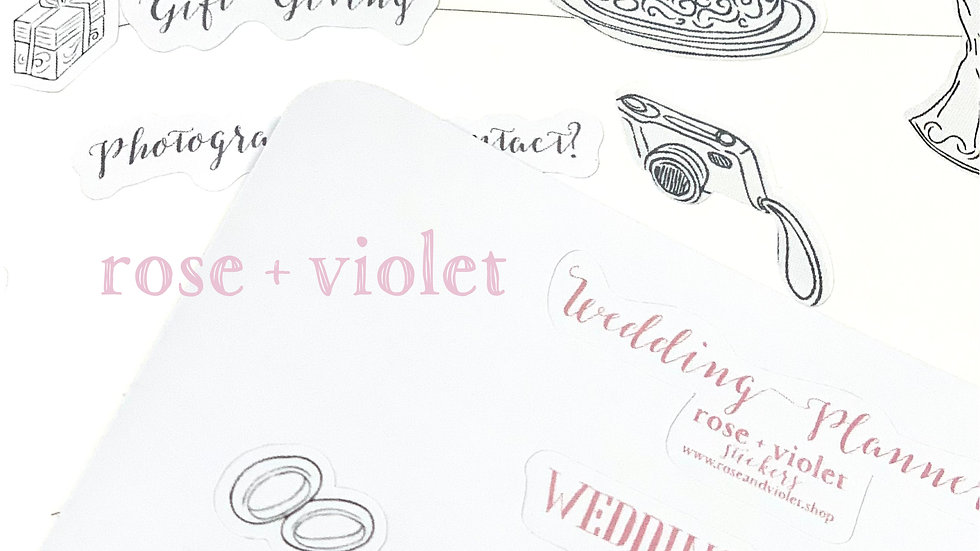 Wedding Planner Sticker Set