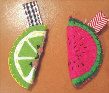 Download Template/instructionsof Felt Fruit Key Chain