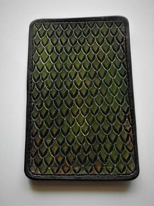 Hand Made Leather Minimalist Dragon Scale Wallet