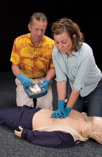 An EFR student performing CPR