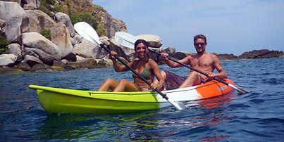 Kayaking in koh Tao