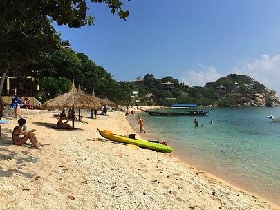 Sai Daeng beach in koh Tao