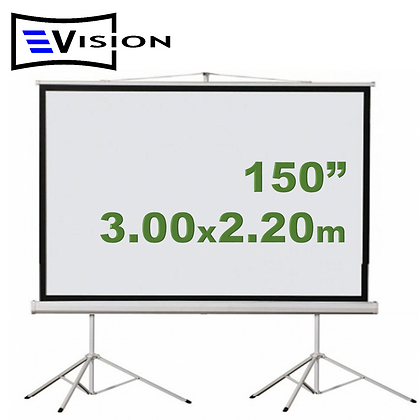 "Ecran Trípode 150"" 3.05x2.29m EVISION"
