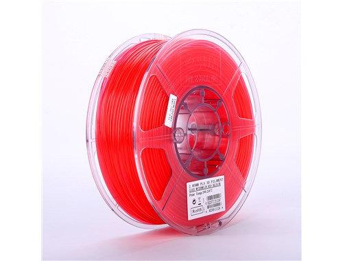PLA Translúcido Rojo 1.75mm 1Kg ESUN
