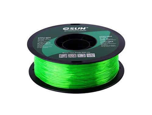 TPU Translúcido Verde 1.75mm 1Kg ESUN Flexible