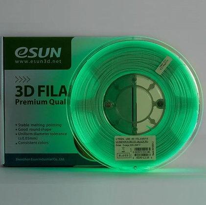 PLA+ Verde Brillo Oscuridad 1.75mm 1Kg ESUN