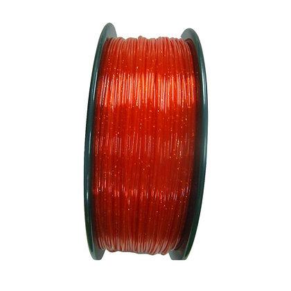 PLA Translúcido Escarchado 1.75mm 1Kg Flibox Rojo