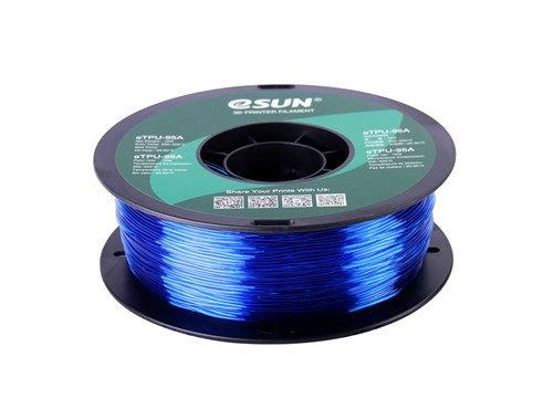 TPU Translúcido Azul 1.75mm 1Kg ESUN Flexible