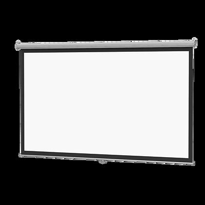"""Ecran Retráctil Manual 93""""x93"""" 2.36x2.36m Vutec - Techo Pared"""