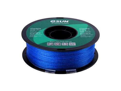 PLA Escarchado Azul 1.75mm 1Kg ESUN