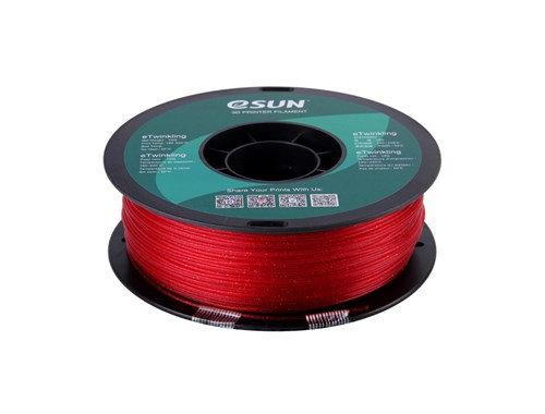 PLA Escarchado Rojo 1.75mm 1Kg ESUN