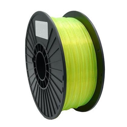 PLA Translúcido Amarillo 1.75mm 1Kg Flibox