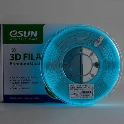 PLA+ Azul Brillo Oscuridad 1.75mm 1Kg ESUN