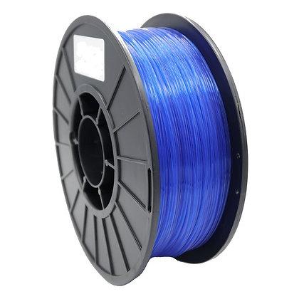 PLA Translúcido Azul 1.75mm 1Kg Flibox