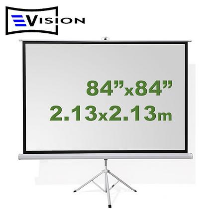 """Ecran Trípode 84""""x84"""" 2.13x2.13m EVISION"""
