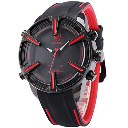 Reloj Shark Dogfish Spider - Led Fecha Alarma Rojo