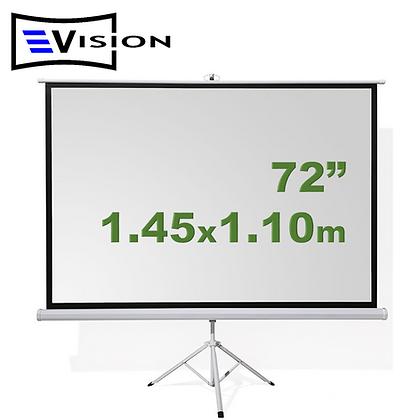 "Ecran Trípode 72"" 1.45x1.10m EVISION"