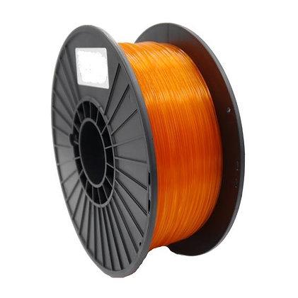 PLA Translúcido Naranja 1.75mm 1Kg Flibox