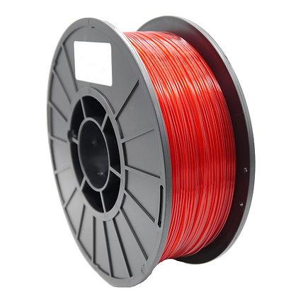 PLA Translúcido Rojo 1.75mm 1Kg Flibox
