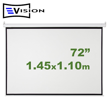 "Ecran Manual 72"" 1.45x1.10m EVISION - Retráctil Techo Pared"