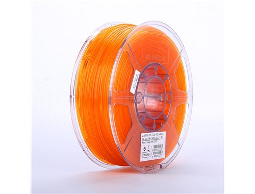 PLA Translúcido Naranja 1.75mm 1Kg ESUN