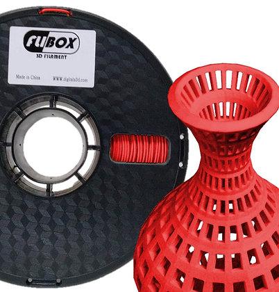 PLA Flexible Rojo 1.75mm 1Kg Flibox