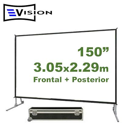 """Ecran Fast Fold 150"""" 3.05x2.29m - Proyección Frontal y Posterior"""
