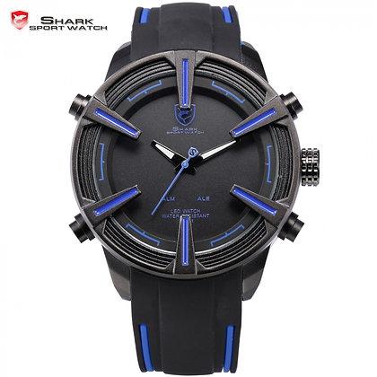 Reloj Shark Dogfish Spider - Led Fecha Alarma Azul