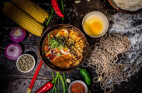 Ramen bowl from one street over japanese. Food styling - mumbai