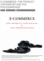 E-COMMERCE: The product copywriter & the