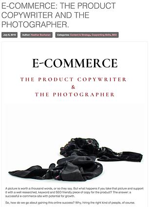 E-COMMERCE: The product copywriter & the